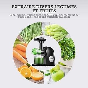 Facile de manger cinq fruits et légumes par jour avec cet extracteur de uus