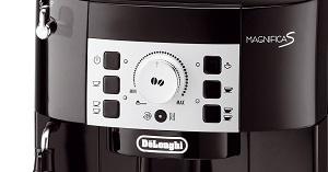 Le panneau de contrôle de la machine à café DeLonghi